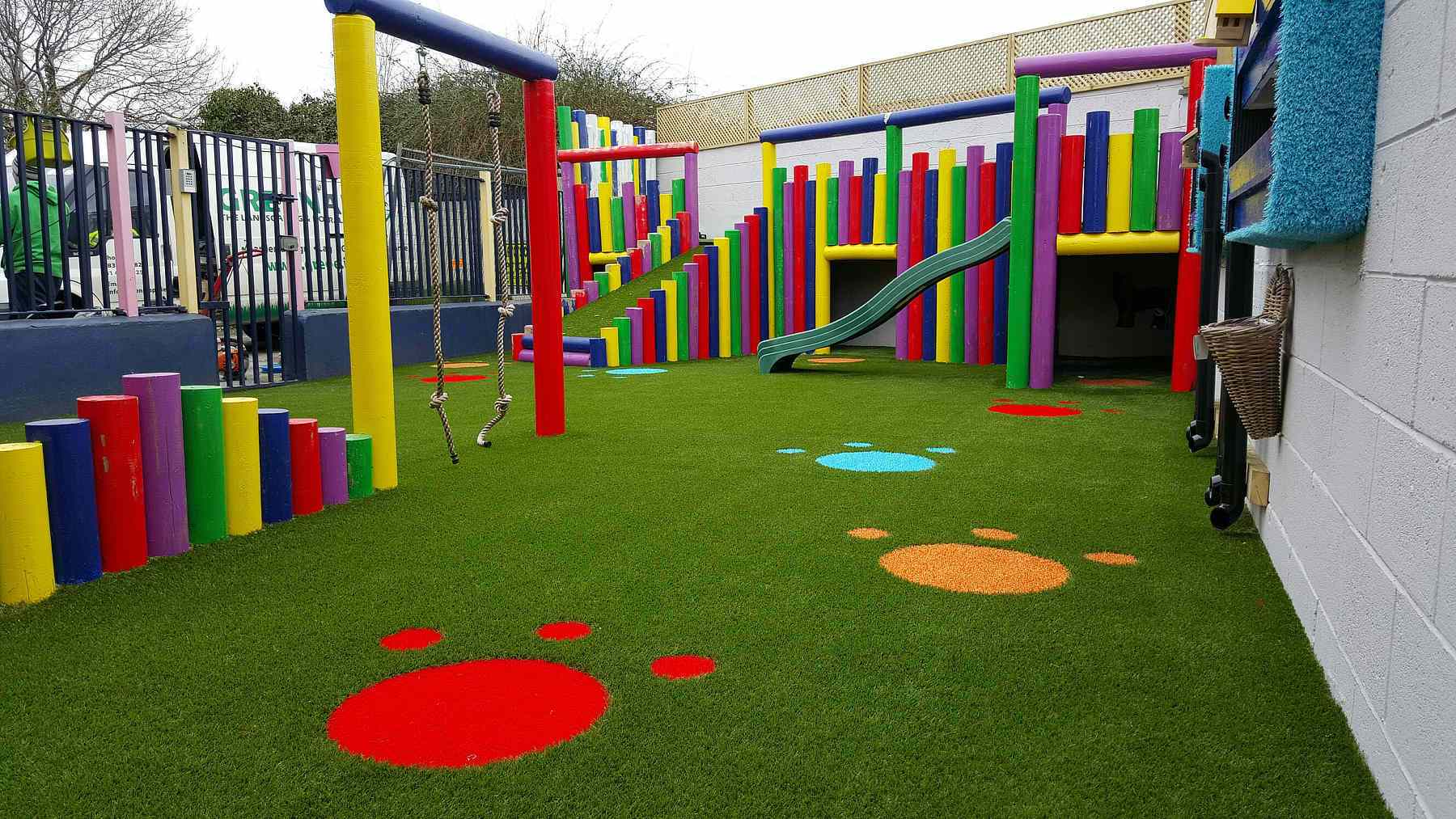 artificial grass playgrounds